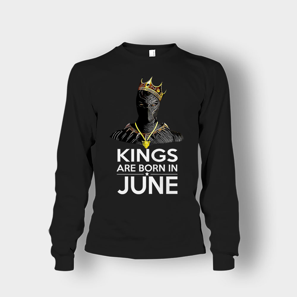 Black Kings Are Born In June Panther Unisex Long Sleeve