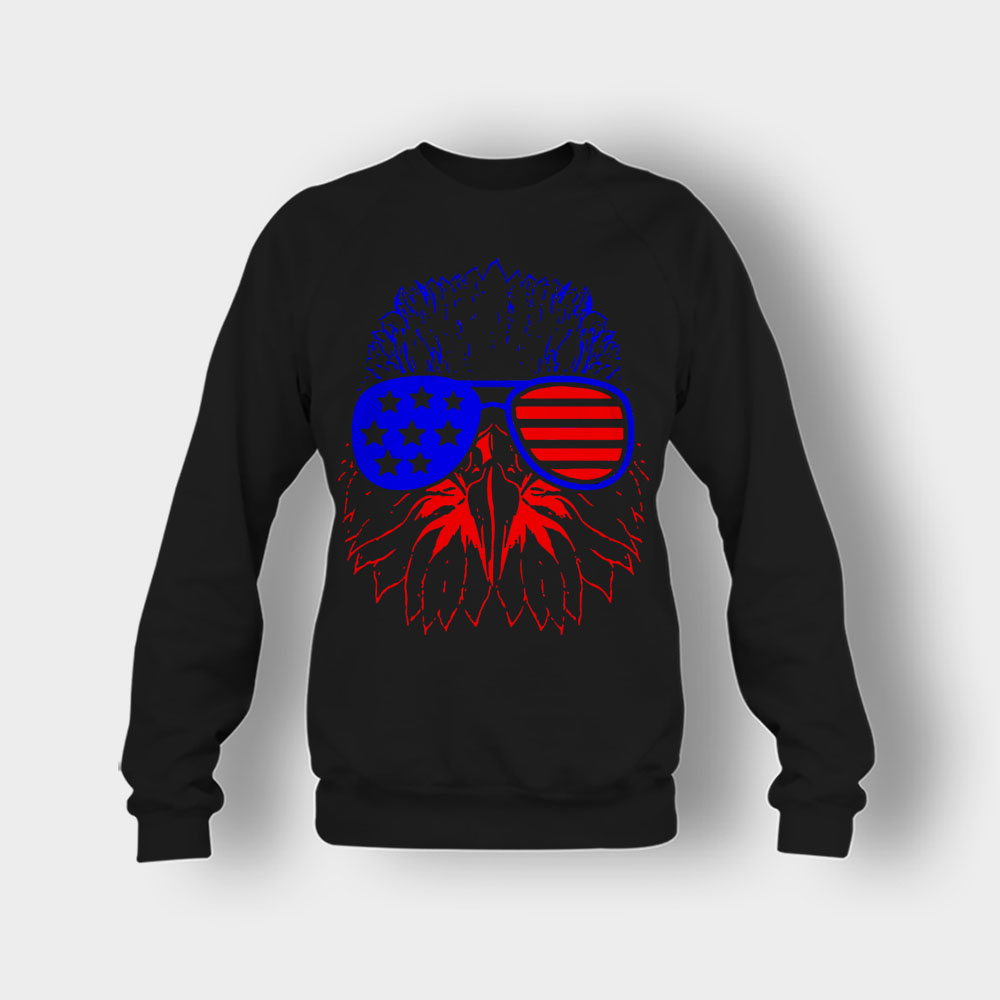 Eagle American Flag 4th Of July Independence Day Patriot Crewneck Sweatshirt