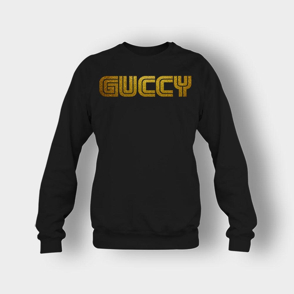 Gold Guccy Crewneck Sweatshirt