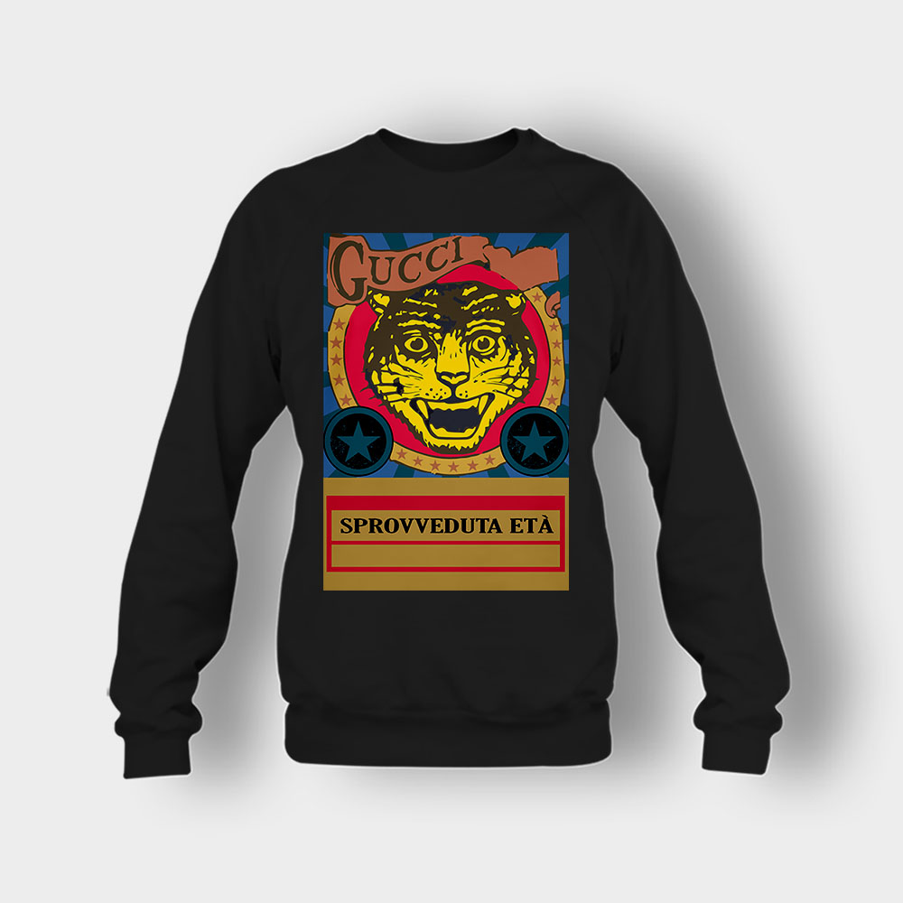 Gucci Black Lion Crewneck Sweatshirt