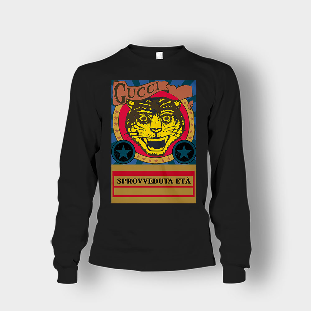 Gucci Black Lion Unisex Long Sleeve