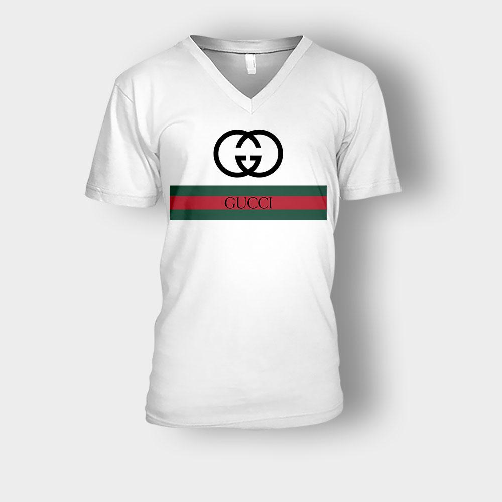 Gucci Logo Inspired Classic Unisex V-Neck T-Shirt