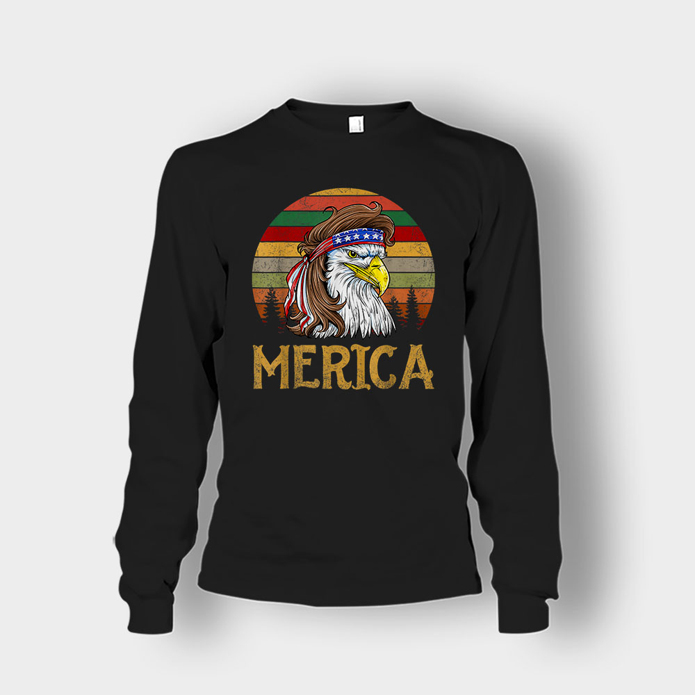 Merica Eagle America 4th Of July Independence Day Patriot Unisex Long Sleeve