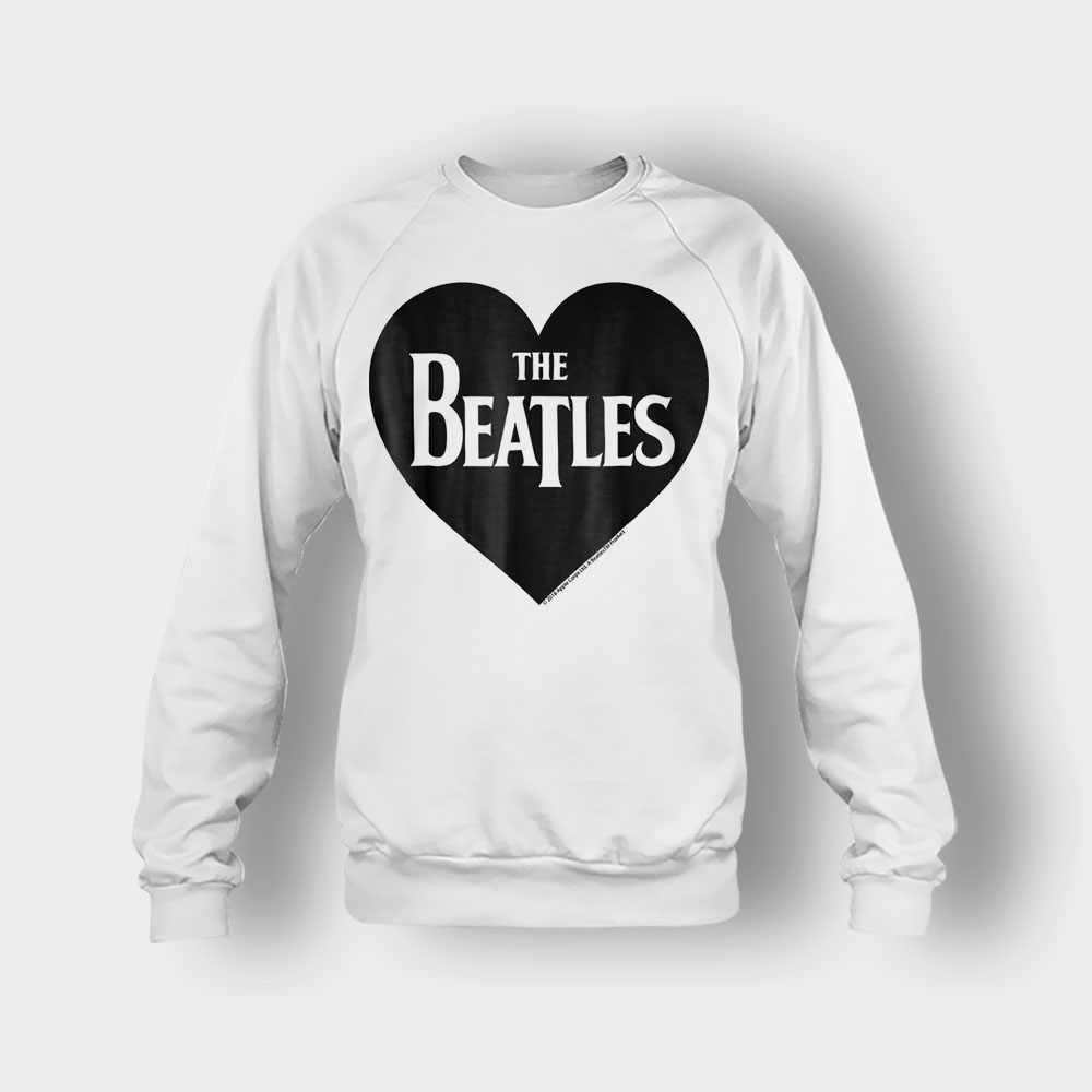 The Beatles Heart Love The Beatles Crewneck Sweatshirt