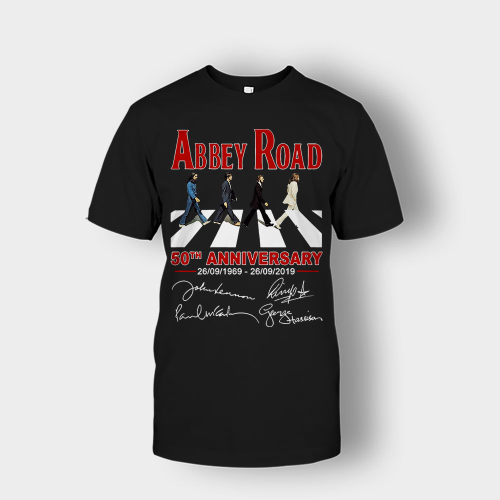 The Beatles album Abbey Road 50th Anniversary 1969-2019 Unisex T-Shirt