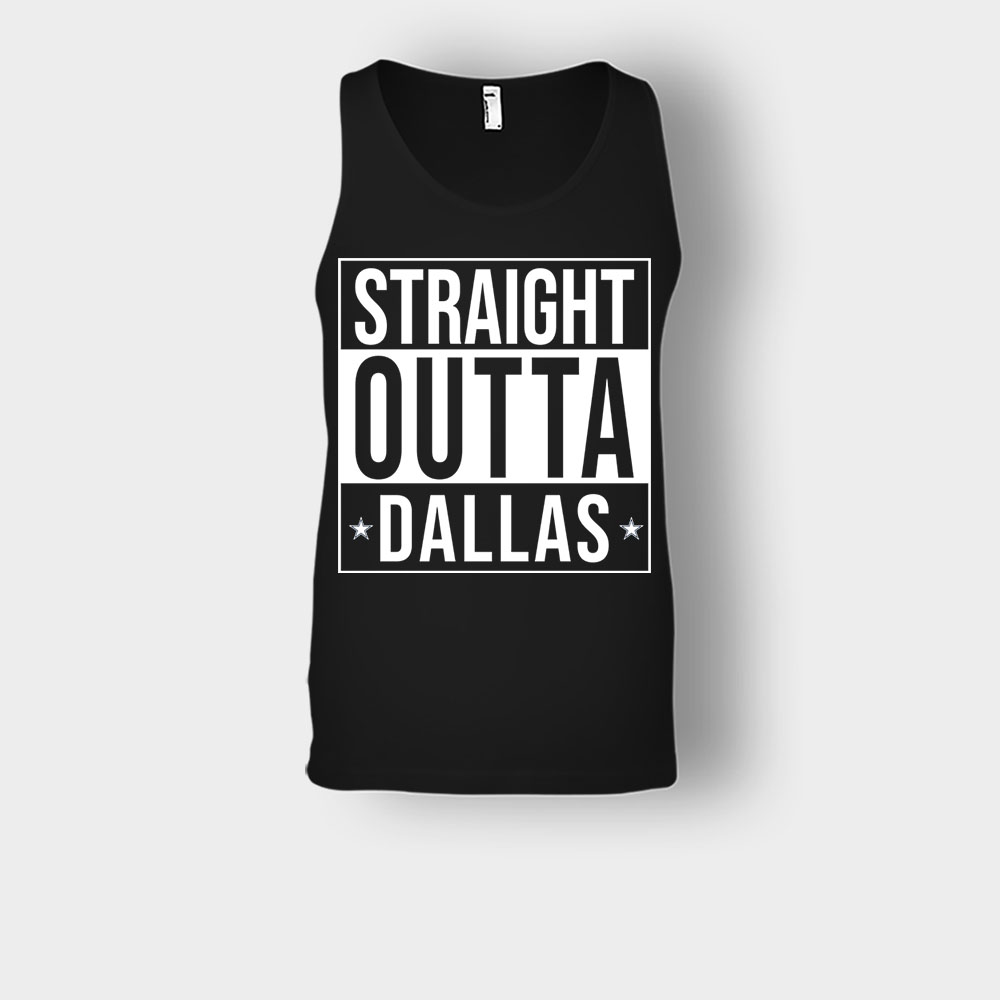 allas Cowboys T-Shirt Straight Outta Dallas Unisex Tank Top